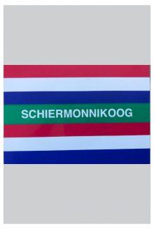 Sticker vlag Schiermonnikoog